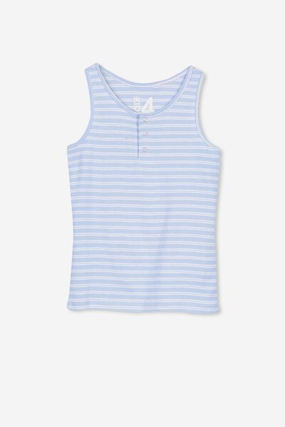 Tilley Tank, BUTTERFLY BLUE/WHITE