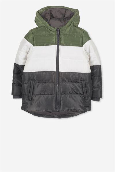 Peyton Puffer Jacket, PHANTOM/PANEL