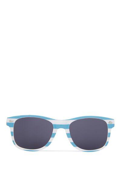 Kids Sunglasses, BLUE/WHITE STRIPE