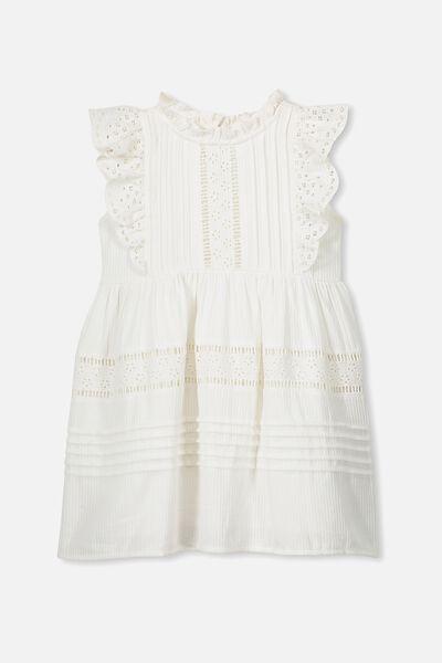Sasha Sleeveless Dress, WHITE
