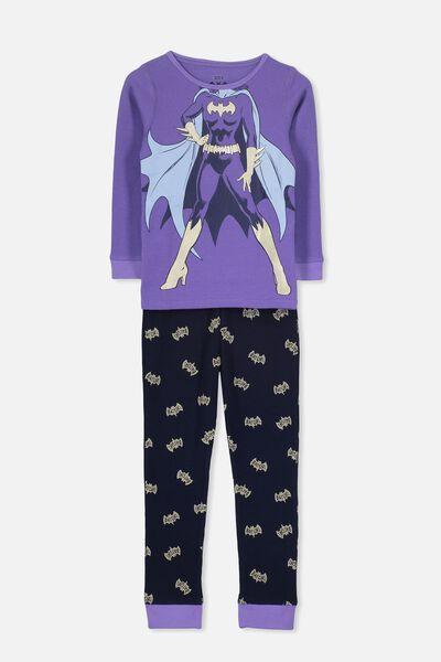 Shae Girls Long Sleeve Waffle Pyjama Set, LCN I AM BATGIRL