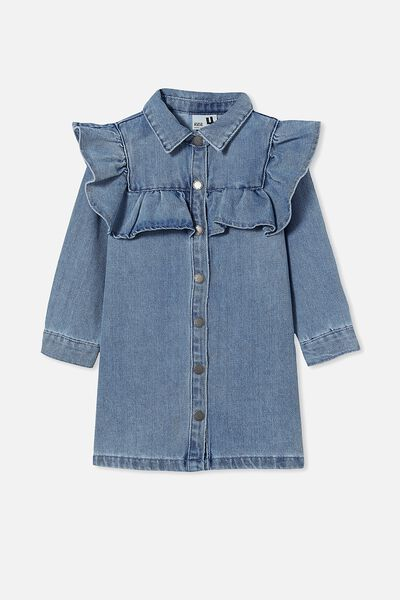 Lucille Long Sleeve Frill Dress, WEEKEND WASH