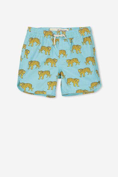 Murphy Swim Short, SHELL BLUE/TIGERS
