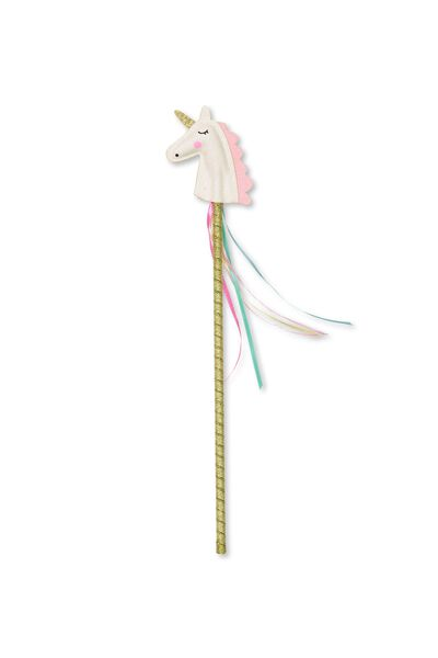 Shooting Stars Wand, RAINBOW GLITTER UNICORN