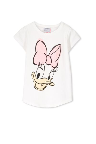 Girls Daffy Duck Short Sleeve Tee, DAISY DUCK/VANILLA