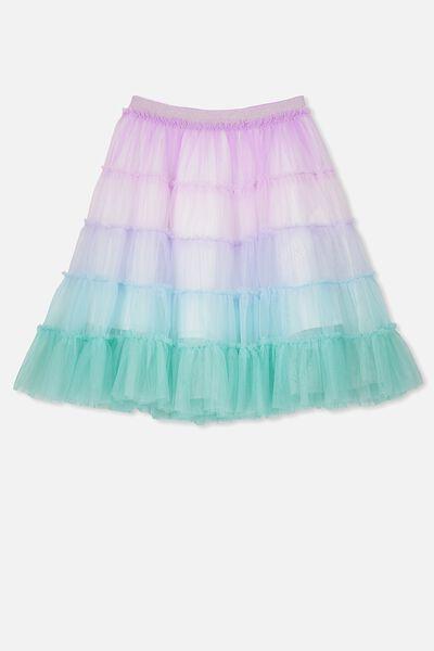 Trixiebelle Tulle Skirt, RAINBOW UNICORN