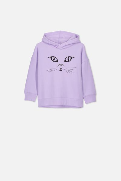Scarlett Hoodie, BABY LILAC/CAT FACE/DROP