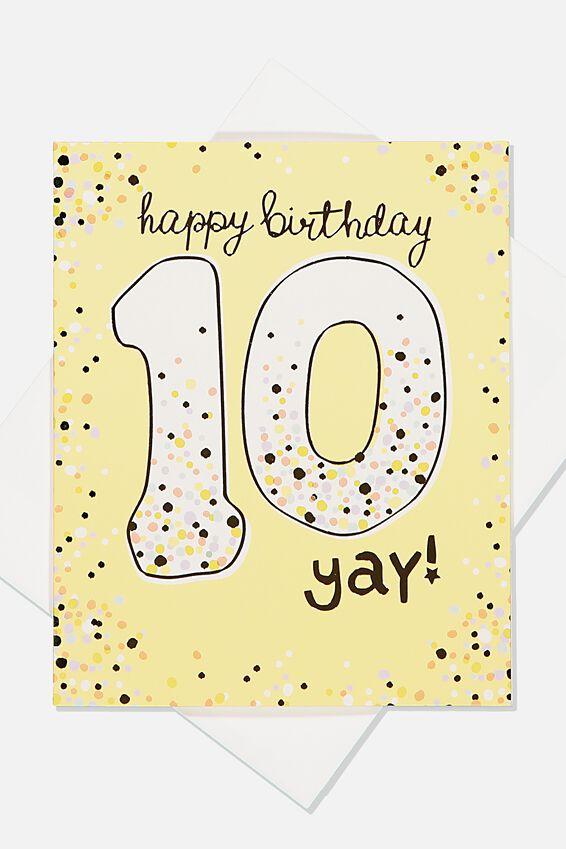 Jesse Birthday Card, 10TH BIRTHDAY YAY