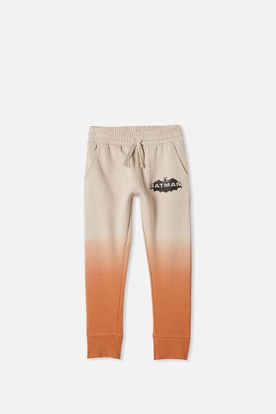 License Slouch Trackpant, LCN WB BATMAN/AMBER BROWN DIP DYE