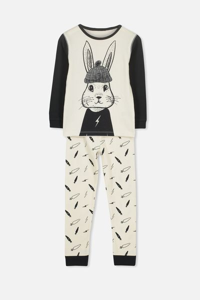 Harry Long Sleeve Boys PJ Set, STREET BUNNY 2