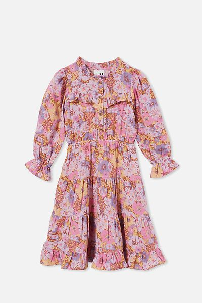 Andie Long Sleeve Dress, CHUTNEY/POP FLORAL