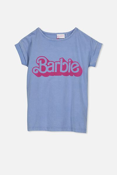 Lux Short Sleeve Retro Tee, BARBIE/BEL AIR BLUE