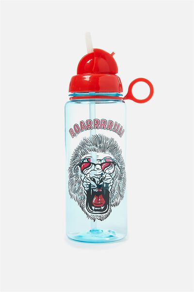 Spring Drink Bottle, BLUE LION ROAR