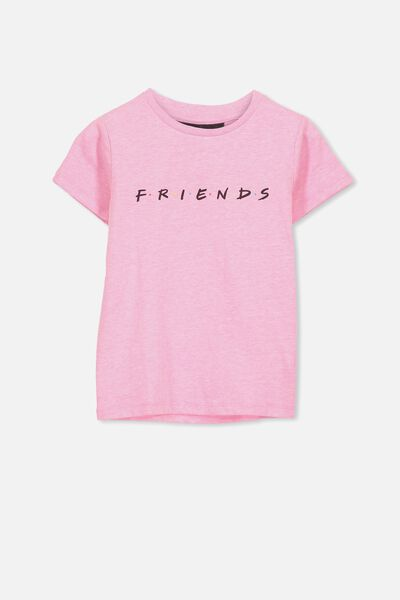 Lux Short Sleeve Tee, LCN  WB FUCHSIA PINK MARLE/FRIENDS/MAX