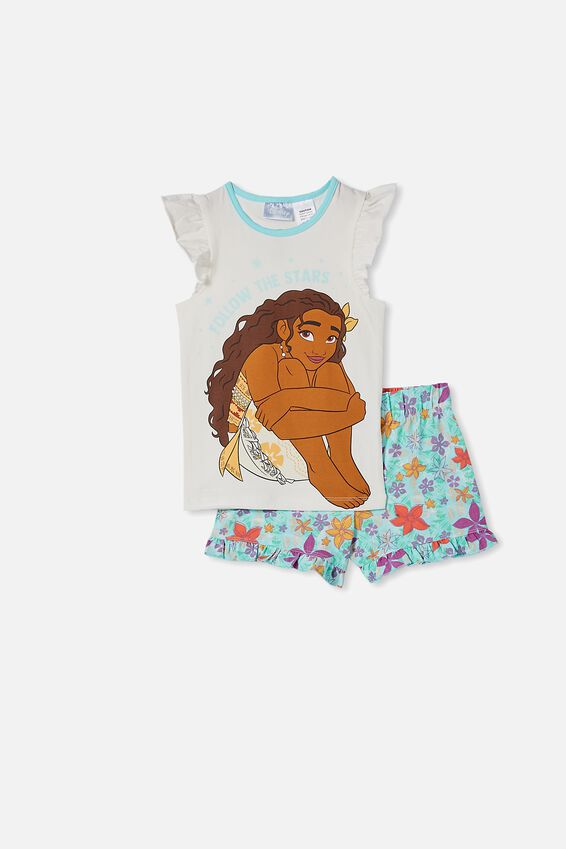 Stacey Short Sleeve Flutter Pyjama Set, LCN DIS MOANA VANILLA