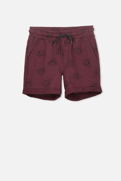 Henry Slouch Short, WINTER GRAPE/SKULLS