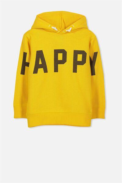 Liam Hoodie, GOLDEN YELLOW/HAPPY