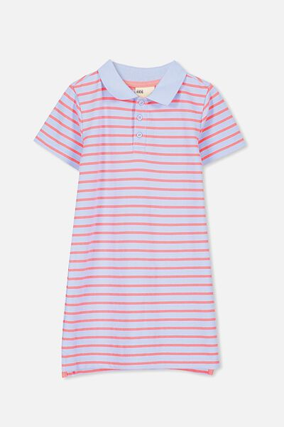 Blaire Polo Dress, BUTTERFLY BLUE/FIZZY STRIPE