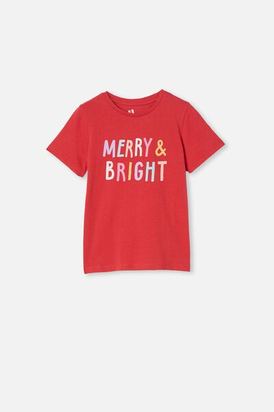 Penelope Short Sleeve Tee, LUCKY RED/MERRY BRIGHT