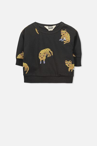 Skyler Drop Shoulder Crew, PHANTOM/TIGER SNEAKERS