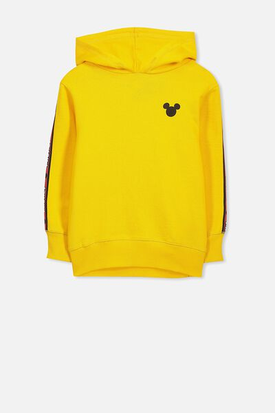 License Hoodie, YELLOW/MICKEY TAPE