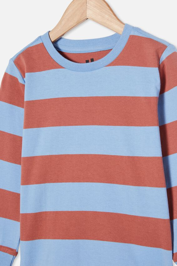 Core Long Sleeve Tee, DUSK BLUE / CHUTNEY STRIPE