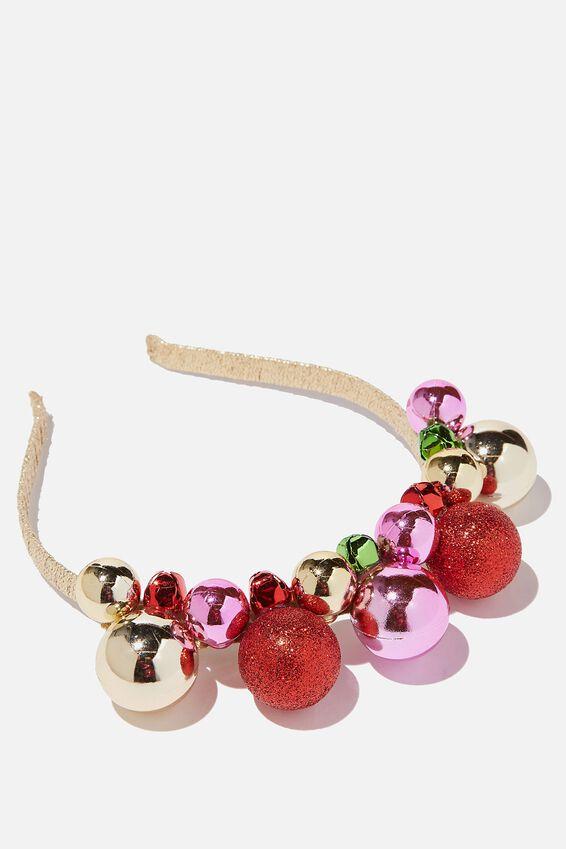Headband - Novelty, CHRISTMAS BAUBLES