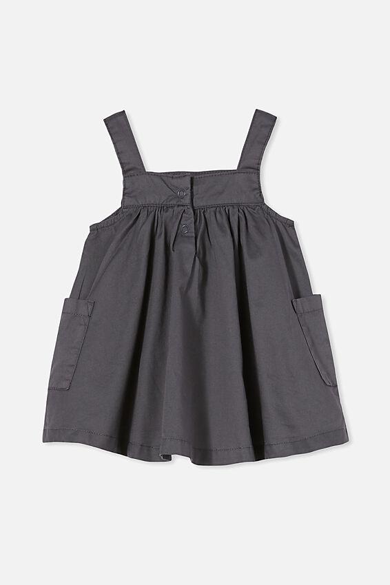 Penny Pinafore Dress, RABBIT GREY