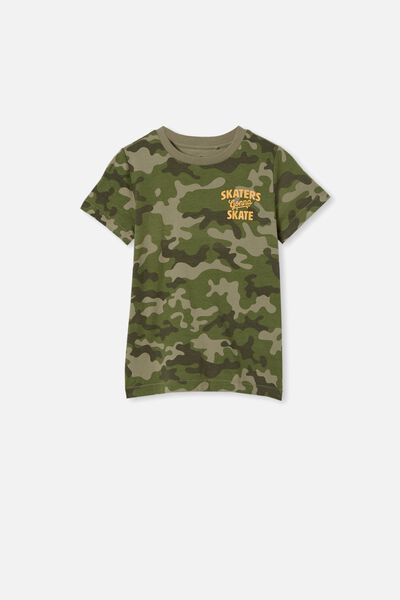 Max Short Sleeve Tee, CAMO/SKATERS GONNA SKATE