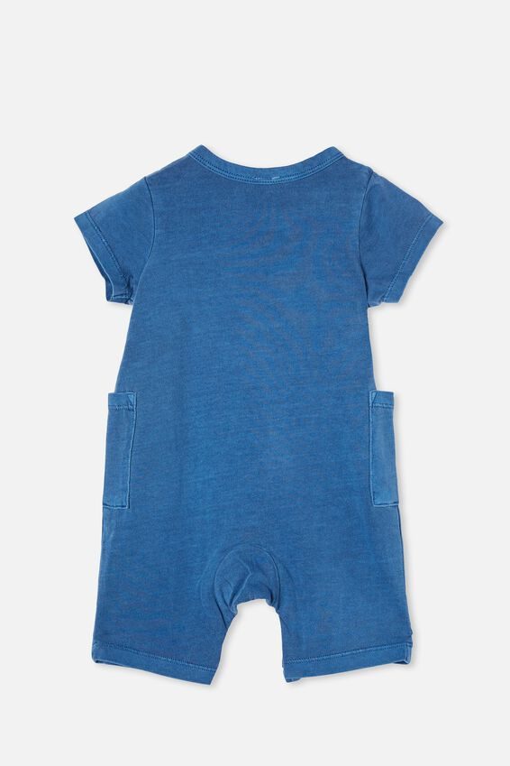 Beau Playsuit, PETTY BLUE WASH
