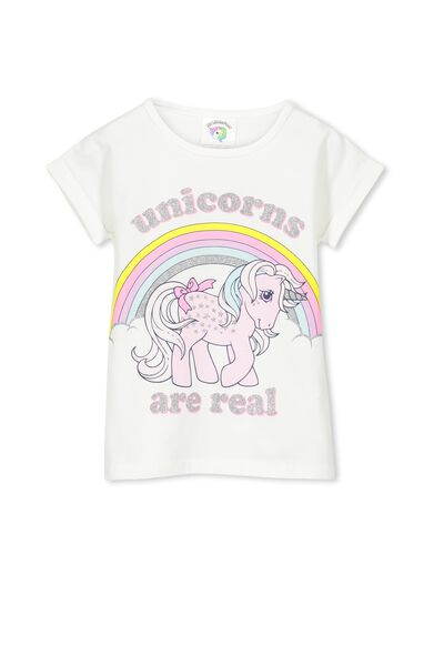 Lux Short Sleeve Retro Tee, MY LITTLE PONY/VANILLA