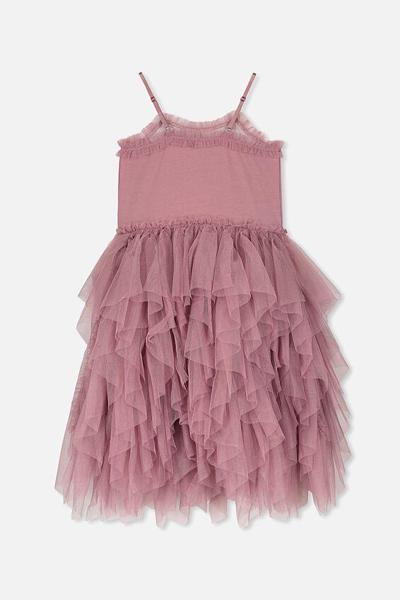 Iris Tulle Dress, DUSTY BERRY/SEQUIN DECO