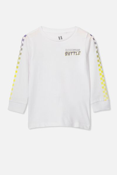Tom Long Sleeve Tee, VINTAGE WHITE/BOWL BATTLE