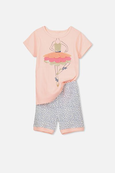 Chloe Short Sleeve Girls Pj Set, BALLERINA TUTU