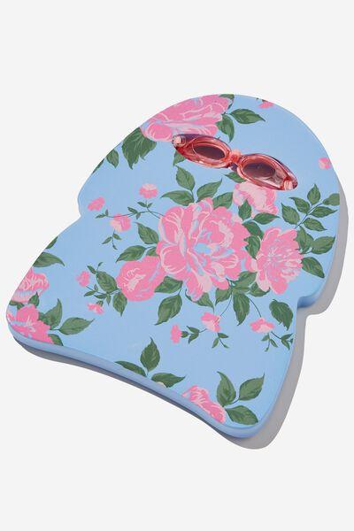 Kickboard & Goggles Set, DUSK BLUE WHITBY ROSIE FLORAL