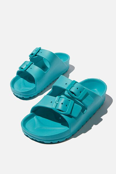 Twin Strap Slide, TROPICAL AQUA