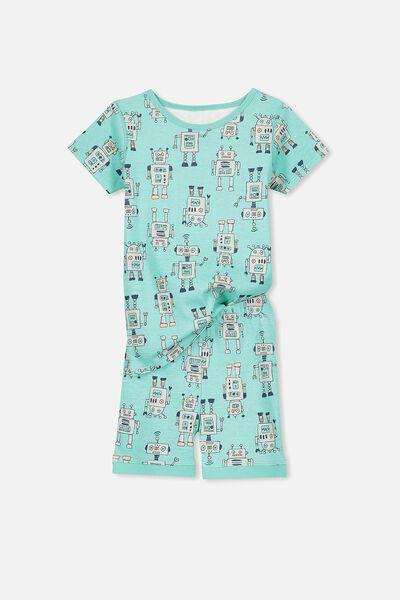 Peter Boys Short Sleeve PJ Set, ROBOT ON THE MOVE