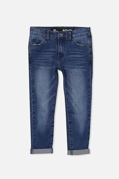 Ollie Slim Leg Jean, MID BLUE