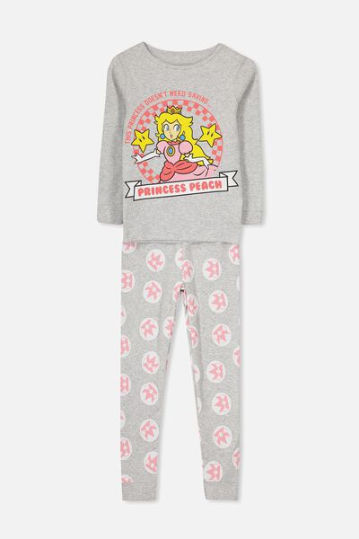 Kristen Girls Long Sleeve PJ Set, LCN PRINCESS PEACH