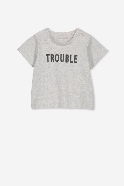 Jamie Short Sleeve Tee, CLOUD MARLE/TROUBLE