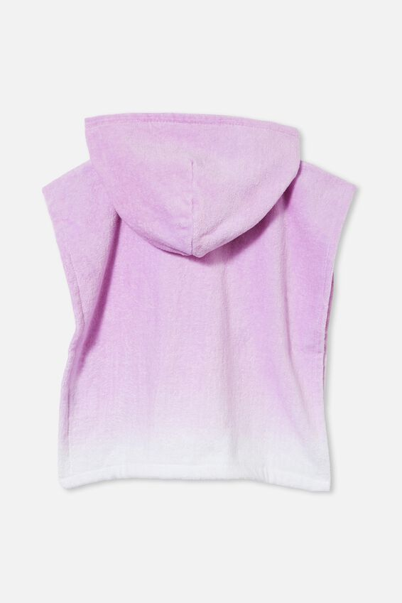 Baby Hooded Beach Towel, PALE VIOLET OMBRE