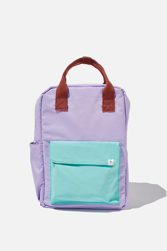 Back To School Backpack, PALE VIOLET/BLUE