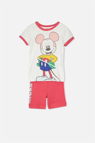 Chloe Girls Short Sleeve PJ Set, LCN RETRO MICKEY MOUSE