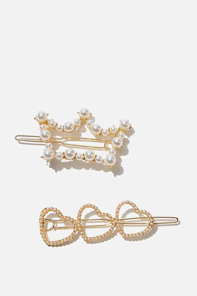 Hair Clips, S PEARLY CROWNS