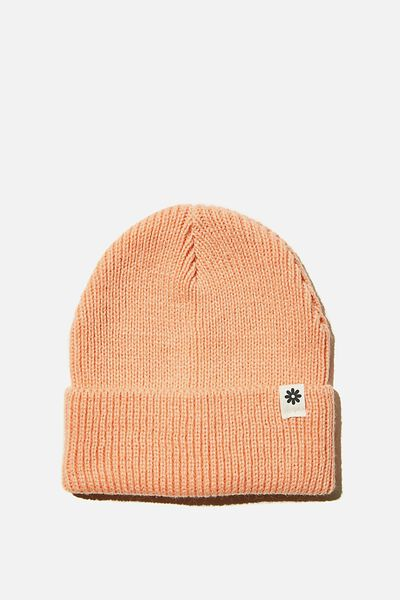 Winter Knit Beanie, MUSK MELON