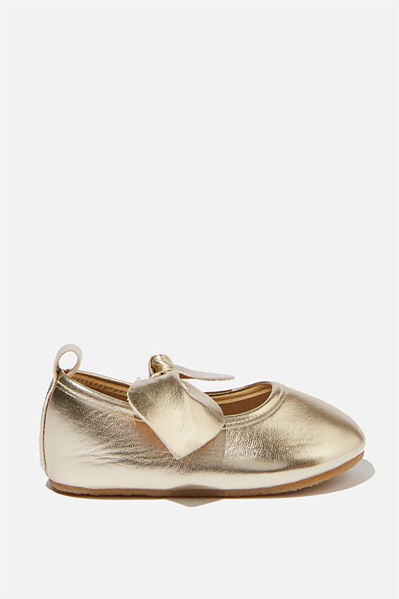 Mini Bow Ballet Flat, METALLIC GOLD