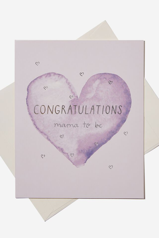 Baby Gift Card, CONGRATULATIONS HEART