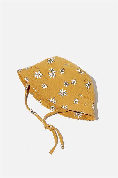 Baby Bucket Hat, LCN MAY VINTAGE HONEY/FLANNEL FLOWERS
