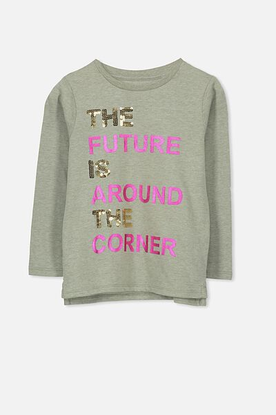 Anna Long Sleeve Tee, SEAGRASS MARLE/FUTURE/SET IN