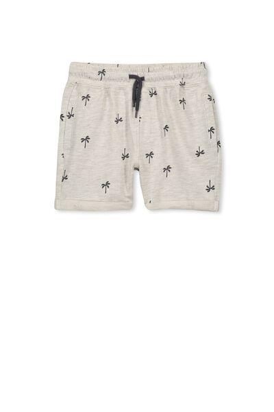 Henry Slouch Short, OATMEAL MARLE/PALMS